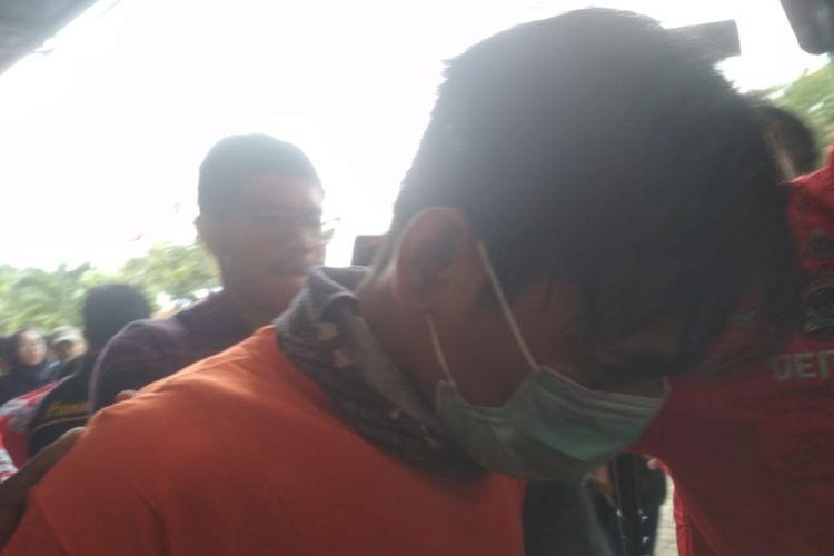 Aris Idol di Polres Pelabuhan Tanjung Priok, Jakarta Utara, Rabu (16/1/2019).