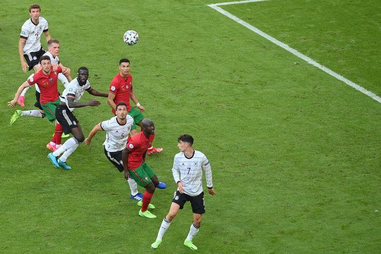 Pertandingan Portugal vs Jerman pada Euro 2020 di Allianz Arena, Muenchen, Jerman, Sabtu (19/6/2021) malam WIB.