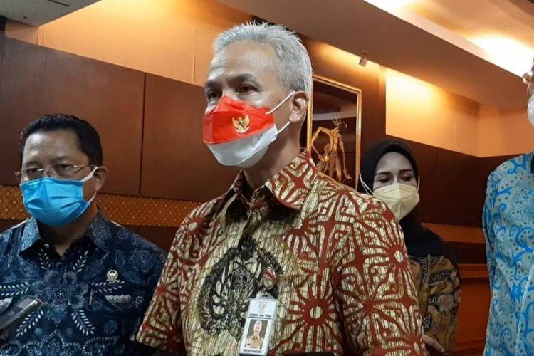 Gubernur Jawa Tengah Ganjar Pranowo di kantornya, Selasa (14/9/2021)