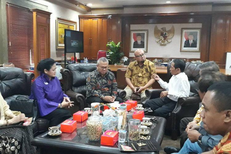 Pertemuan MBI dan KPU di Gedung KPU, Jakarta, Selasa (4/12/2018).