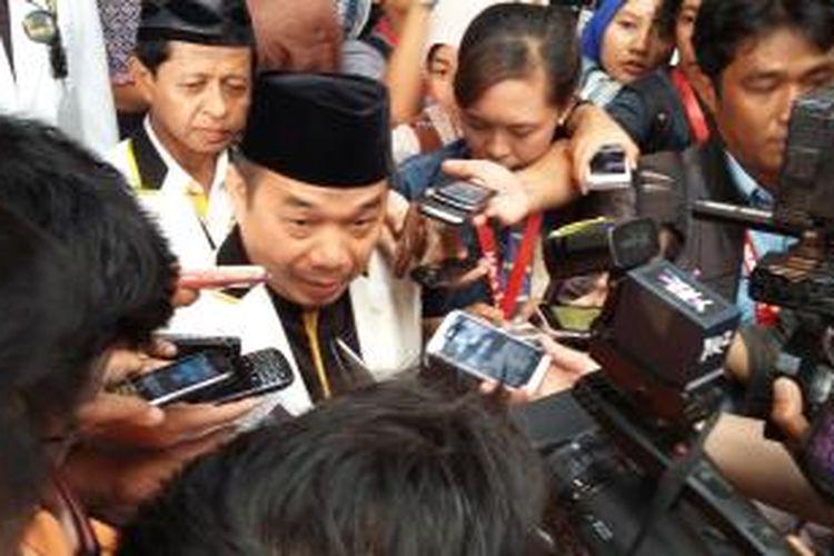 Ketua Fraksi PKS di DPR RI Jazuli Juwaini, saat menghadiri pembukaan Musyawarah Nasional ke-4 PKS di Hotel Bumi Wiyata, Depok, Jawa Barat, Senin (14/9/2015).