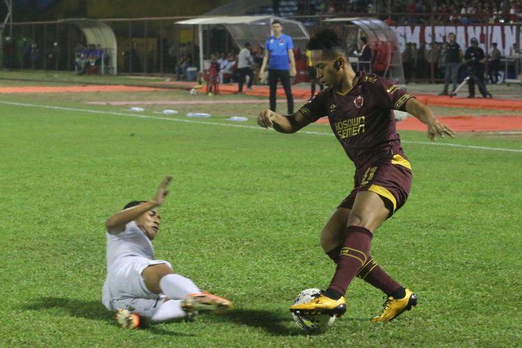 Laga pekan Liga 1 2019 pekan ke-9 antara PSM Makassar vs Persebaya Surabaya di Stadion Andi Mattalatta, Mattoangin, Makassar, Rabu (17/7/2019).