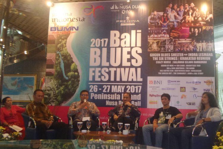 Konferensi pers Bali Blues Festival 2017 di Kementerian Pariwisata, Jakarta Pusat, Rabu (17/5/2017).