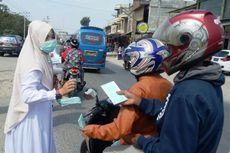 Antisipasi Dampak Sinabung, Tim Medis Bagikan Masker