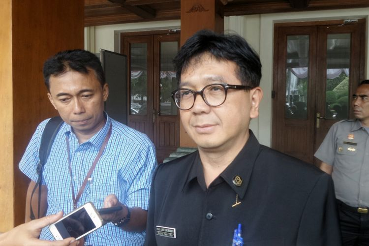 Kepala Badan Tenaga Nuklir Nasional (Batan) Djarot Sulistio Wisnubroto di Kemenko Polhukam, Jakarta Pusat, Senin (28/8/2017).