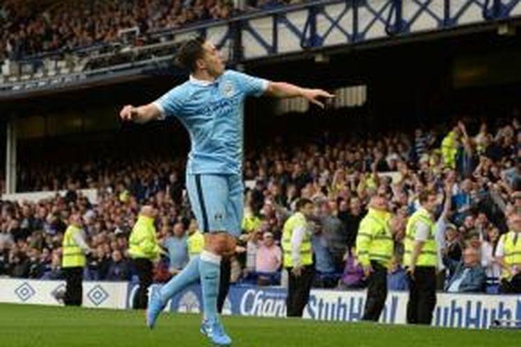 Gelandang Manchester City asal Perancis, Samir Nasri.
