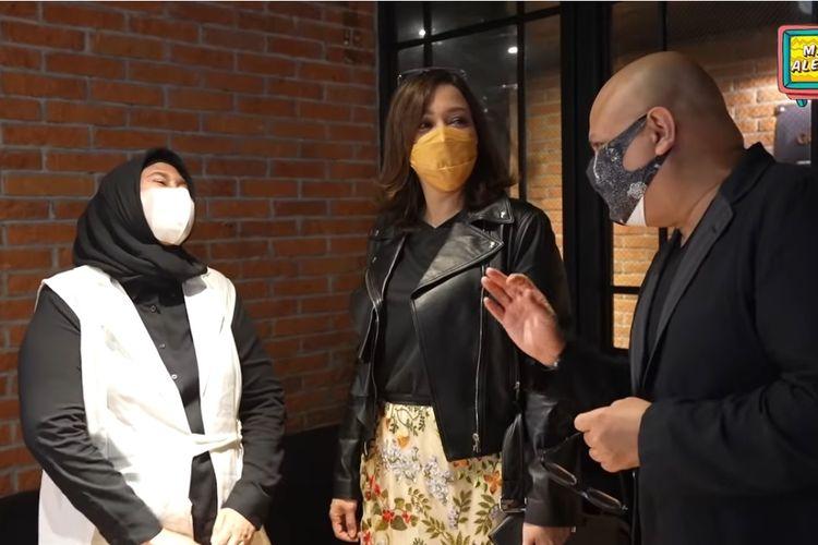 Ibunda Tissa Biani, Dian Estining Adhi berjumpa dengan Maia Estianty dan Irwan Mussry.