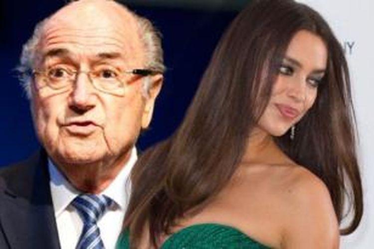 Sepp Blatter dan Irina Shayk.