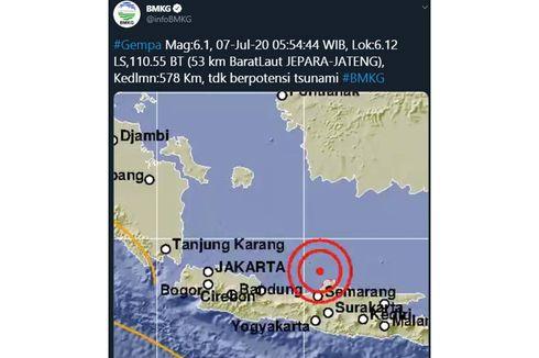 Dekat dengan Pusat Gempa M 6,1, Warga Jepara Malah Tak Rasakan Guncangan