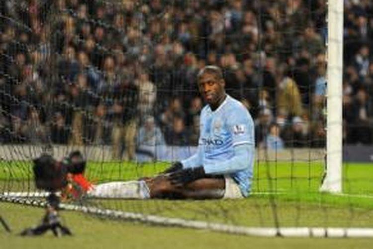 Gelandang Manchester City, Yaya Toure.