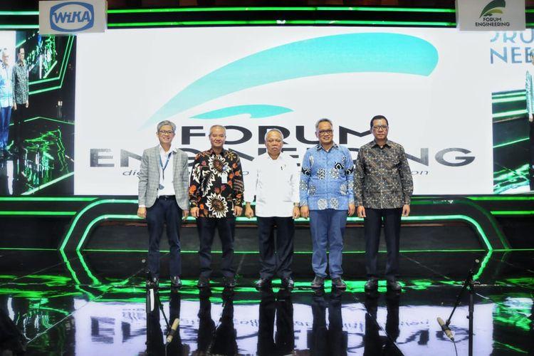 Menteri PUPR, Basuki Hadimuljono saat menghadiri acara Foreng 10 bersama tim PT. Wijaya Karya (WIKA) Persero, Selasa (12/11/2019).