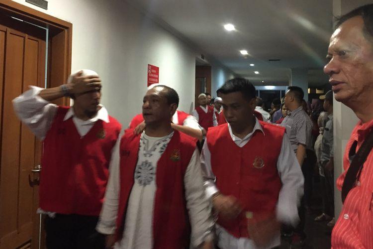 Para terdakwa kerusuhan 21-22 Mei di pengadilan Negeri Jakarta Pusat, Selasa (17/9/2019).