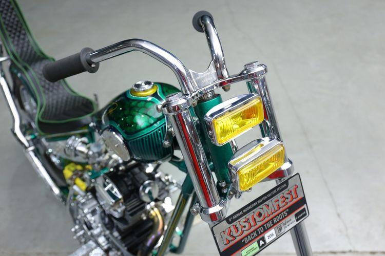 Yamaha Scorpio bergaya skinny chopper garapan Wangsa Kencana Garage