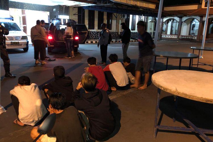 Remaja yang diamankan oleh polresta Yogyakarta