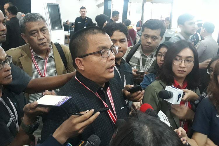 Anggota tim hukum paslon 02 Prabowo Subianto-Sandiaga Uno, Denny Indrayana di Gedung MK Jakarta, Kamis (27/6/2019).