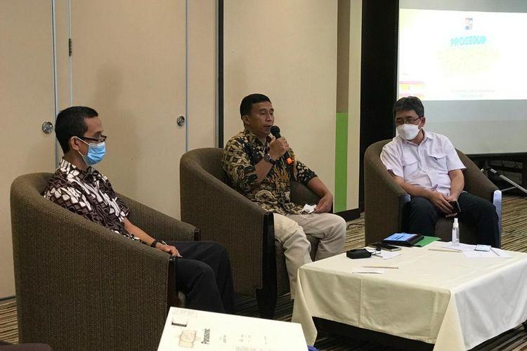 Kepala Dinas Pendidikan Kota Bogor, Hanafi dalam dialog Fortadikbud di Bogor, Sabtu, 17 April 2021.