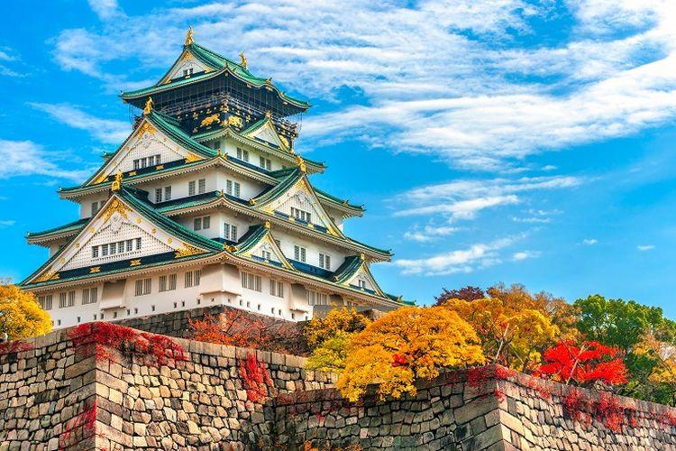 Ilustrasi Jepang - Osaka Castle (SHUTTERSTOCK/Luciano Mortula - LGM).