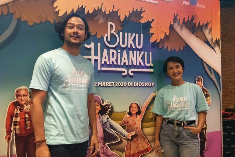 Widi Mulia dalam jumpa pers film Buku Harianku di CGV FX Sudirman, Jakarta Pusat, Selasa (4/2/2020).