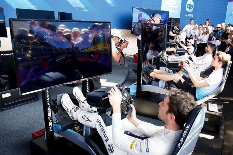 ilustrasi Formula E Race