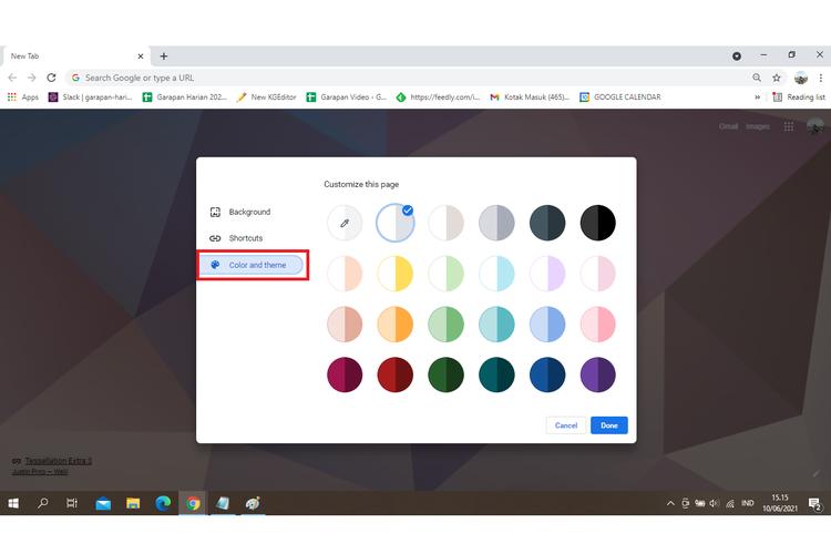 Cara mengganti background tab di Google Chrome