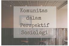 Komunitas dalam Perspektif Sosiologi