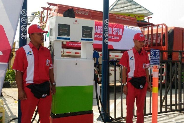 KiosK Pertamax yang ada di Rest Area 252 Tol Pejagan-Pemalang, Rabu (30/5/2018).