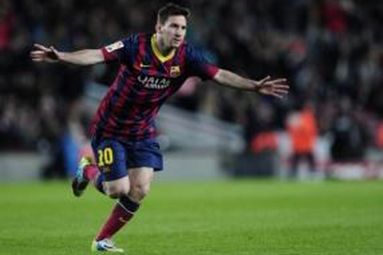 Striker Barcelona, Lionel Messi.