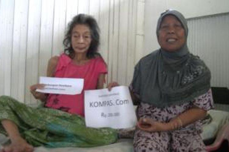 Penderita Kista mendapat bantuan pembaca Kompas.com.