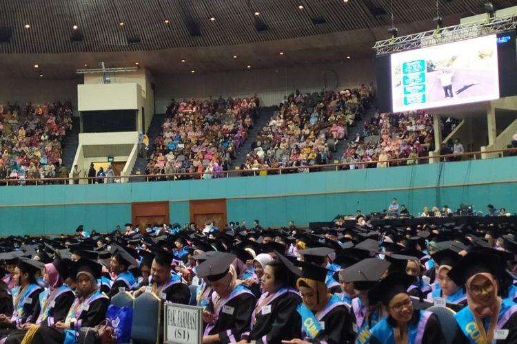 Wisuda Universitas Pancasila, Selasa (1/10/2019).