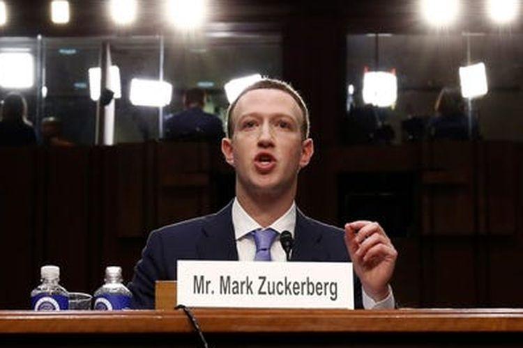 CEO Facebook Mark Zuckerberg memberikan testimoni di hadapat anggota kongres AS terkait kebocoran data pengguna Facebook dalam kasus Cambridge Analytica.
