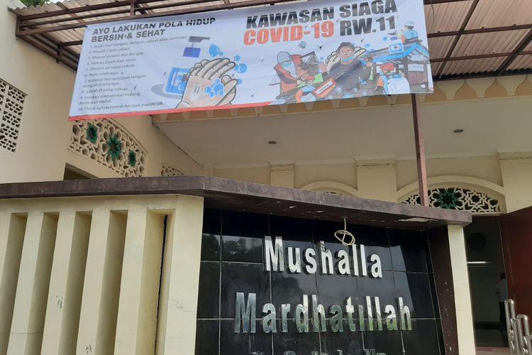 Salah satu spanduk program Kampung Siaga Covid-19 bentukan Sekolah Relawan di Perumnas Beji Utara, Depok.