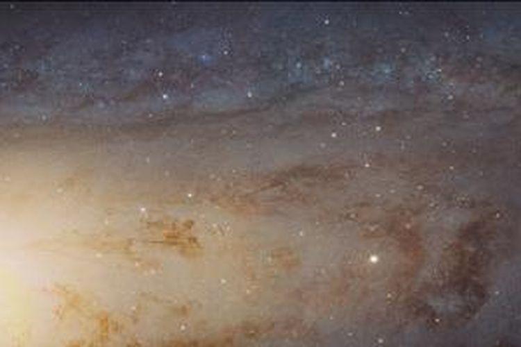 Potongan galaksi Andromeda dalam foto 1,5 gigapixel lansiran NASA