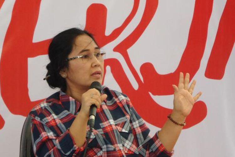 Politisi PDI Perjuangan Eva Kusuma Sundari saat diundang sebagai narasumber sebuah diskusi di Rumah Lembang, Menteng, Jakarta Pusat, Selasa (29/11/2016).