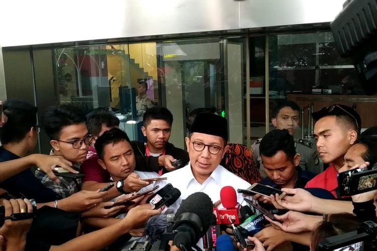 Menteri Agama Lukman Hakim Saifuddin telah memenuhi panggilan pemeriksaan sebagai saksi di Komisi Pemberantasan Korupsi (KPK), Jakarta, Rabu (8/5/2019).