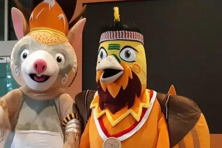 Drawa (kanan) dan Kangpo (kiri) akan menjadi Maskot PON 2020 Papua yang baru diperkenalkan pada Rabu, 20 November 2019.