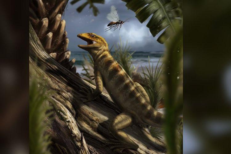 Sekitar 240 juta tahun lalu, Megachirella wachtleri menginjak vegetasi di wilayah yang sekarang disebut Dolomites di Italia utara. Ia adalah ibu dari semua reptil dan ular.