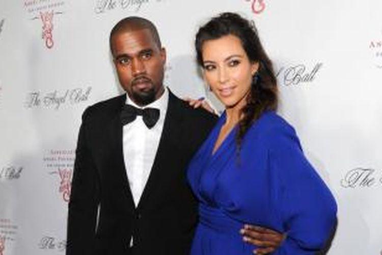 Kanye West dan Kim Kardashian.