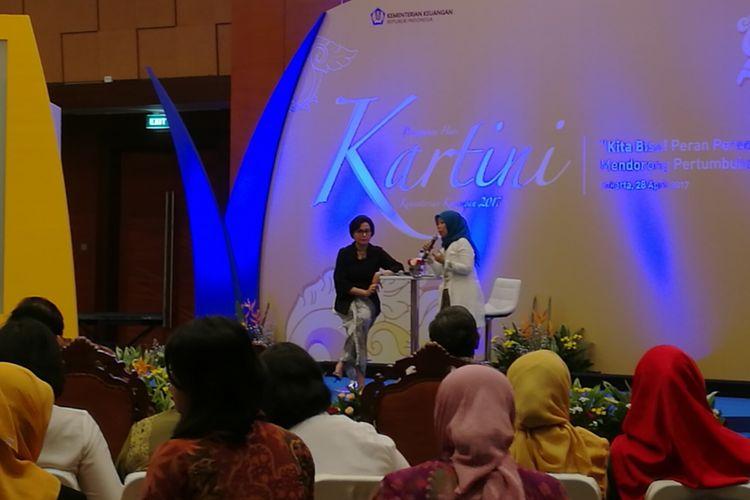 Menteri Keuangan Sri Mulyani di perayaan Hari Kartini