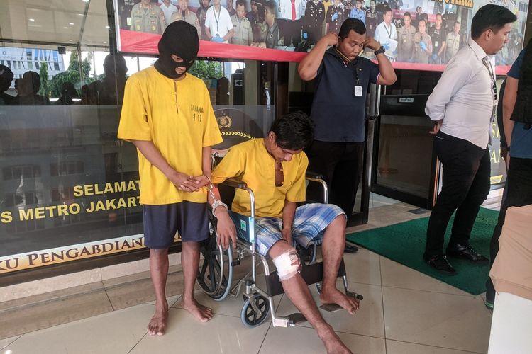Dua dari tujuh anggota kelompok begal yang merampok sopir truk di Plumpang, Koja, Jakarta Utara  pada Minggu (12/1/2020) lalu telah ditangkap Polres Metro Jakarta Utara