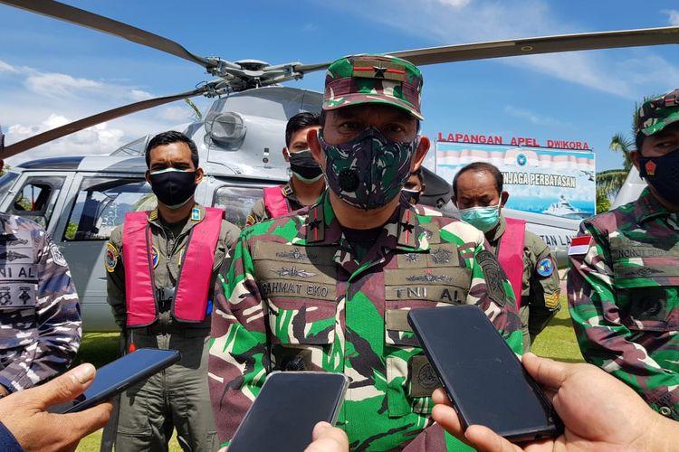 Komandan Gugus Tempur Laut (Guspurla) Koarmada II Laksamana Pertama TNI  Rahmat Eko Rahardjo, saat berkunjung ke Lanal Nunukan
