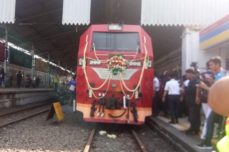 PT KAI meluncurkan KA Pangrango tambahan relasi Bogor-Sukabumi jelang mudik lebaran 2019 di Stasiun Bogor, Selasa (14/5/2019).