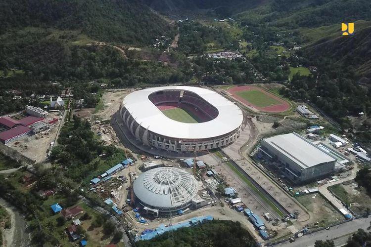 Kementerian PUPR memperpanjang masa pelaksanaan pembangunan infrastruktur arena Pekan Olahraga Nasional XX Papua hingga awal tahun 2021.