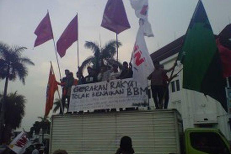 Ilustrasi demo kenaikan BBM bersubsidi