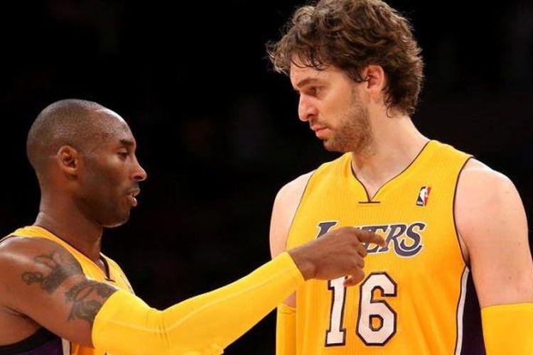 Kobe Bryant dan Pau Gasol, dua andalan LA Lakers