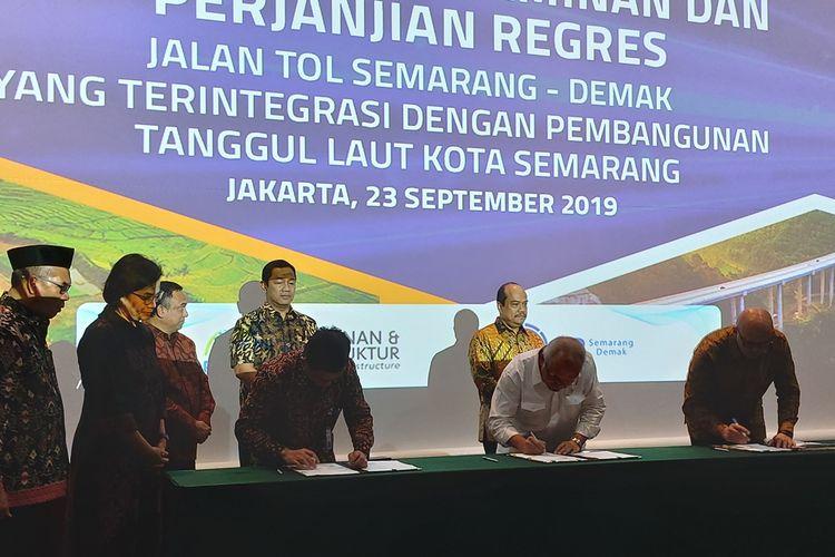 PPJT Tol Semarang-Demak ditandatangani, Senin (23/9/2019).
