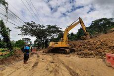 Tertimbun Material Longsor, Jalan Penghubung 2 Kecamatan di Samarinda Ditutup