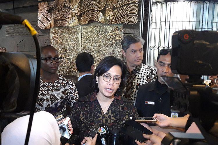 Menteri Keuangan Sri Mulyani Indrawati di Jakarta, Kamis (30/1/2020).