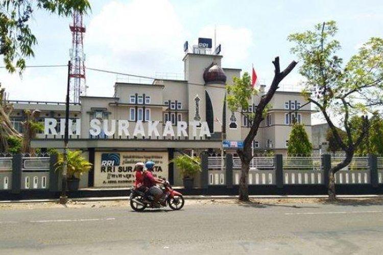 Suasana terkini di depan Kantor RRI Solo Jalan Abdurrahman Saleh No. 51 Banjarsari, Selasa (10/11/2020).