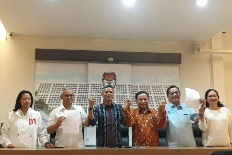 Rapat persiapan debat keempat di kantor KPU, Menteng, Jakarta Pusat, Senin (25/3/2019).