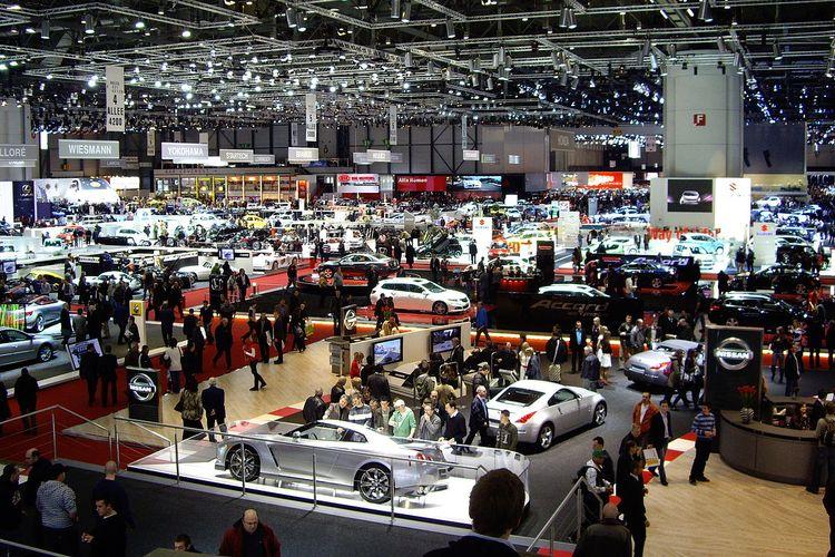 Ilustrasi pameran otomotif Geneva Motor Show